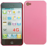 iPhone 4/4s, Taschen / Cover - BackCover Pure Pink kompatibel zu Apple iPhone 4