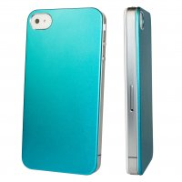 iPhone 4/4s, Taschen / Cover - BackCover Alu Ultra Slim Blau kompatibel zu Apple iPhone 4