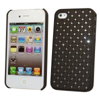 iPhone 4/4s, Taschen / Cover - BackCover Diamond Schwarz kompatibel zu Apple iPhone 4